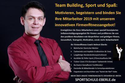 Asia Fitness Program - Hanmudo Systemgroßmeister Helmut Eberle, Firmenfitness, Burnout Prävention, Motivationstraining