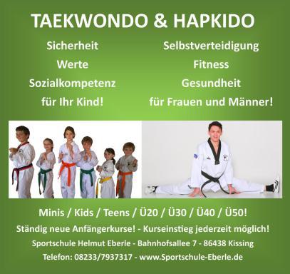 Sportschule Helmut Eberle, Asia Fitness Program, Budo-Fitness, Hanmudo, Taekwondo, Hapmusul, Hapkido, Jiu-Jitsu, Qi Gong, Trainerausbildung, Kampfkunst, Kampfsport, Augsburg, Bayern, Deutschland