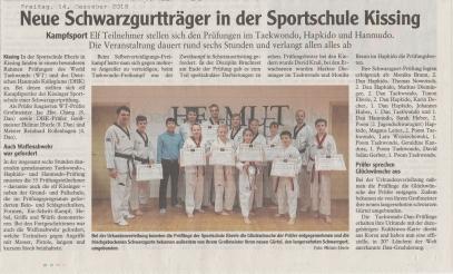 Sportschule Systemgroßmeister Helmut Eberle, Hanmudo, Asia Fitness Program, Hapmusul, Taekwondo, Hapkido, Jiu-Jitsu, Allkampf, Kissing, Friedberg, Mering, Augsburg